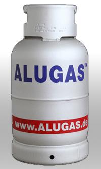 Alugasflasche 11kg mit Kragen Treibfgasflasche