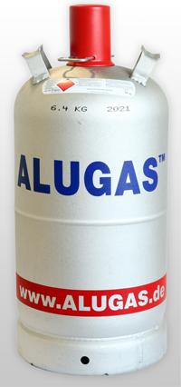 Alugasflasche 14kg mit Kragen